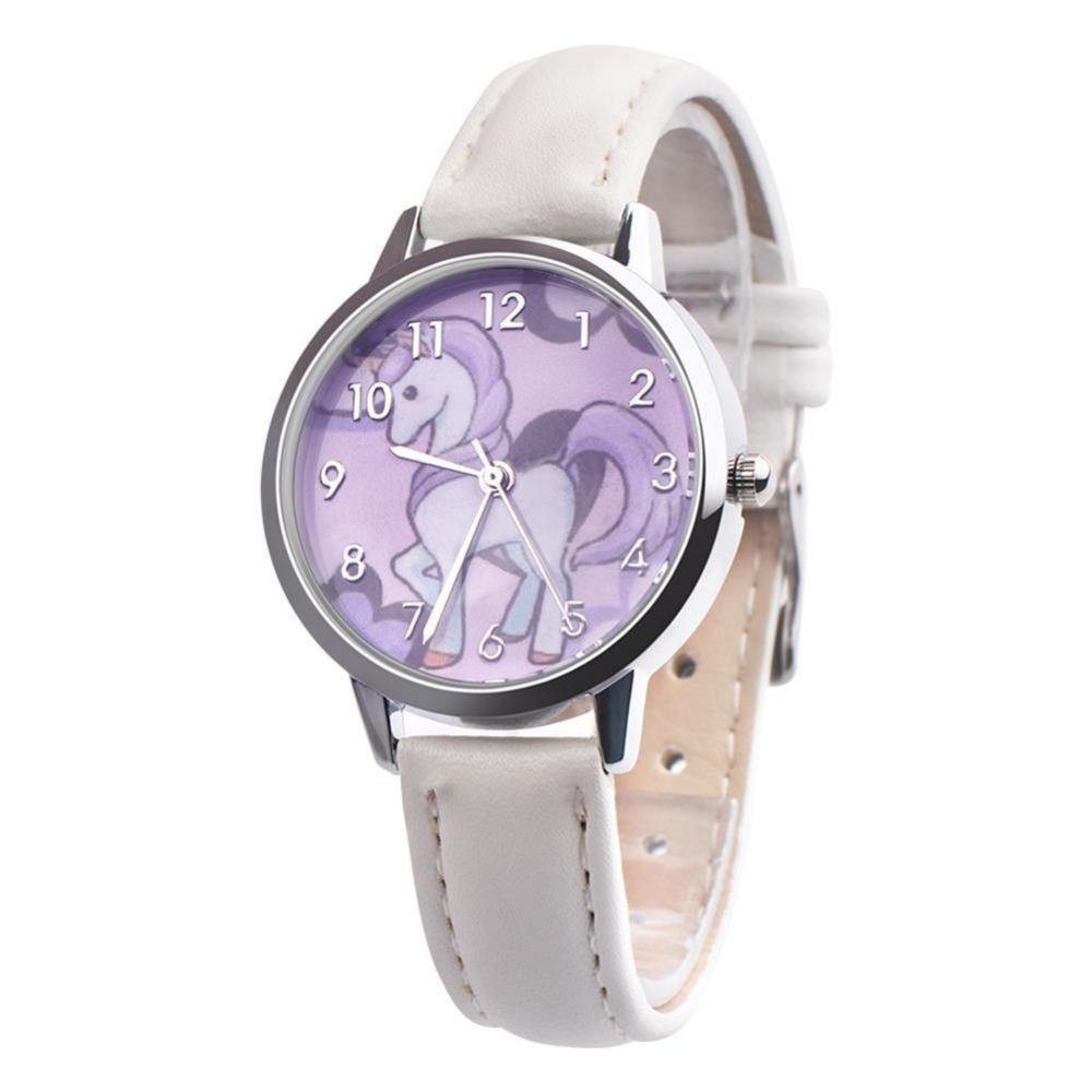 Children Cute Unicorn Wrist Watch Harajuku Analog Jelly Students Clock Cartoon Waterproof Boy's Girl's Ladies