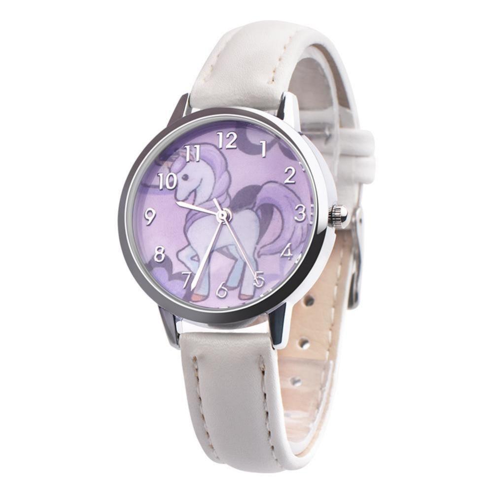 Children's Watches 2019 Fashion Cute Girls Animal Unicorn Design Children Watch Quartz Jelly Kids Clock Boys Students Wristwatches Relogio Clock Fine Quality