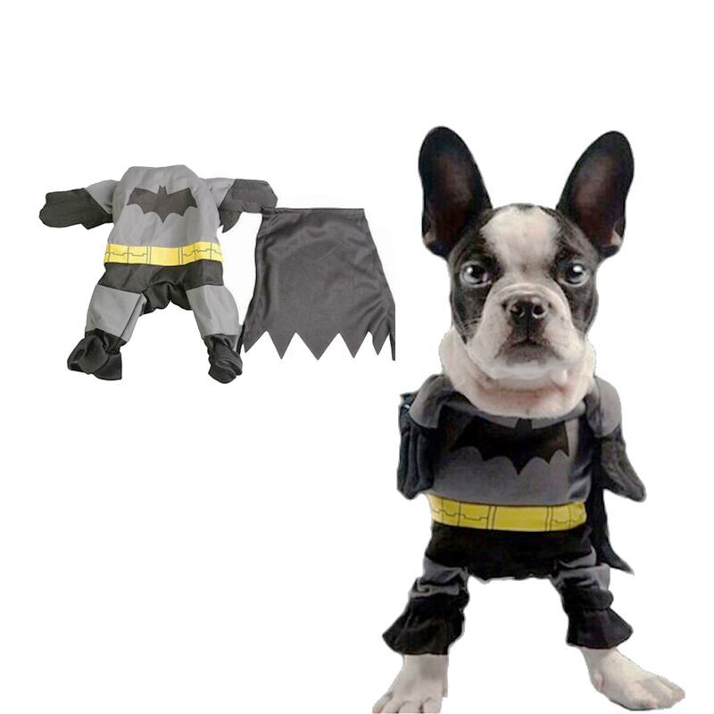 New Cute Pet Cat Dog Batman Costume Suit Puppy Clothes Superhero Outfit Apparel Clothing for Small dogs drop Shipping 0212