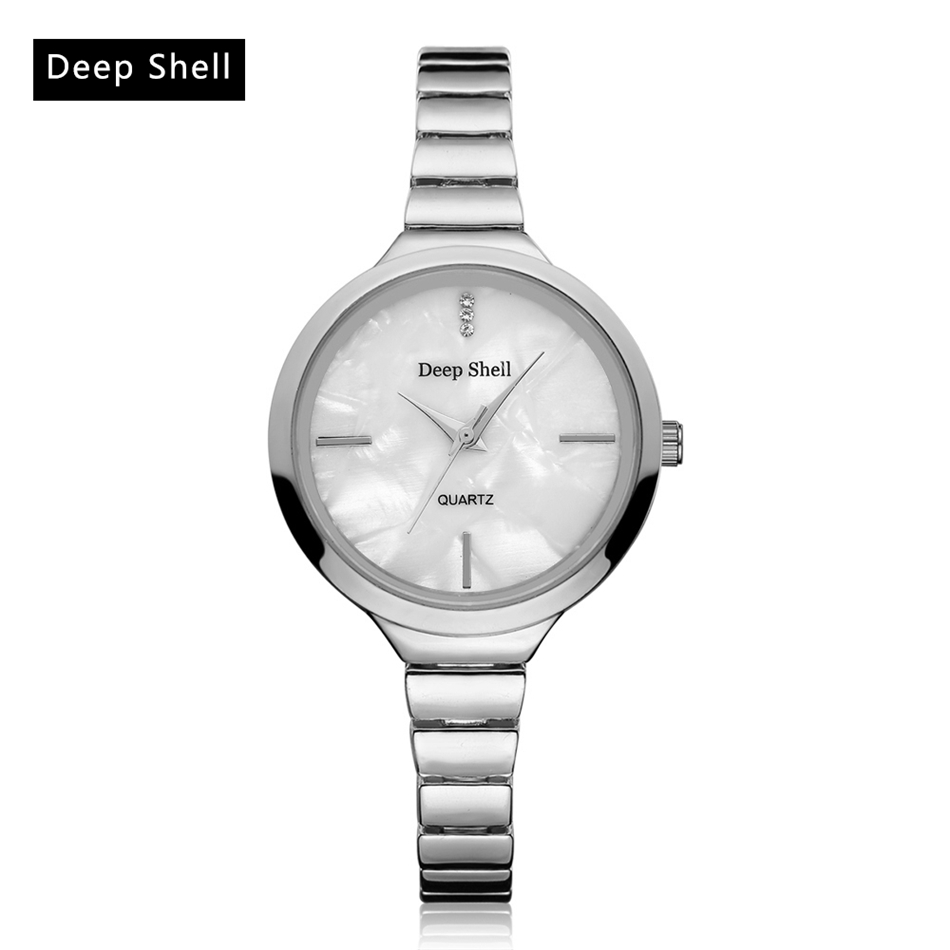 Deepshell Casual Brand Gold Silver Wristwatch Women Hot Sale Luxury Business Women Fashion Luxury Watch Ladies Clock Watches fashion leather watches for women analog watches elegant casual major wristwatch clock small dial mini hot sale wholesale