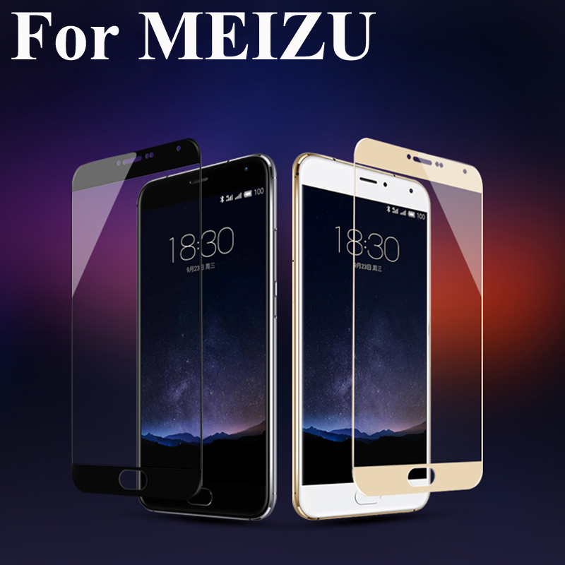 Full Cover Color Screen Protector Tempered Glass For Meizu M3 Note Mini M3S U10 U20 MX6 Pro 6 3 Explosion Proof Film In Fitted Cases From Cellphones