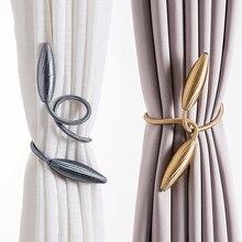 Произвольной формы сильные подхваты для штор из плюшевого Сплава Подвесные ремни веревки для штор держатель для штор Стержни аксессуары