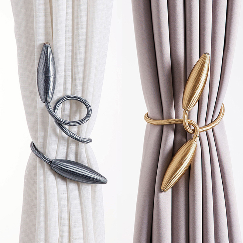 Us 3 36 Arbitrary Shape Strong Curtain Tiebacks Plush Alloy Hanging Belts Ropes Holdback Rods Accessoires In Decorative