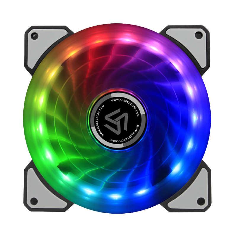 ALSEYE RGB Fan 120mm 5pin Çift Aura PC Fan Uzaktan Kumanda Bilgisayar Soğutma Fanı Ayarlanabilir RGB ve Fan Hızı
