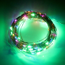 100 LED 10M Fairy Lamps Copper Wire String Lights Home Decoration Christmas Wedding Party Solar Party Supplies