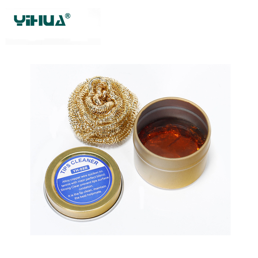 YIHUA 08B Soldering iron Solder rosin flux cleaner for cleaning solder rosin Weld High quality rosin Copper clean ball Flux set high quaility carton rosin soldering iron soft solder welding fluxes environment friendly acid solder rosin
