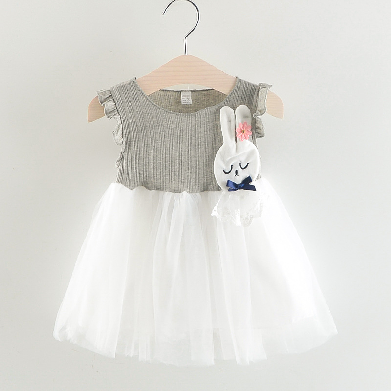 1-6Y Baby Girls Dress Summer Dresses Princess Dress White Birthday Dress A- Line Dress Kid Girls Clothing Cute Skirt Party Dress