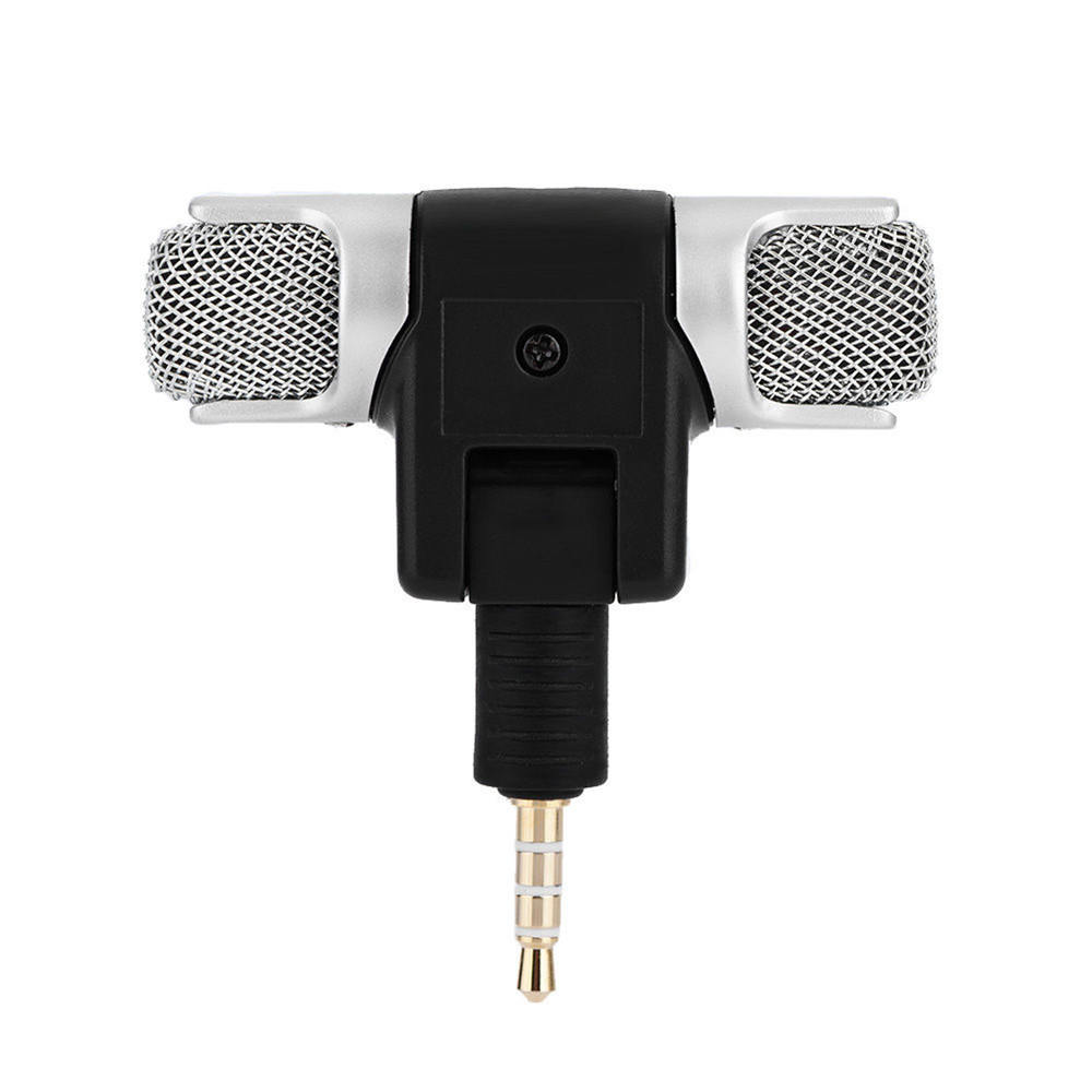 Mini 3.5mm Microphone Stereo Mic For Recording Mobile Phone Studio Interview Microphone For Smartphone