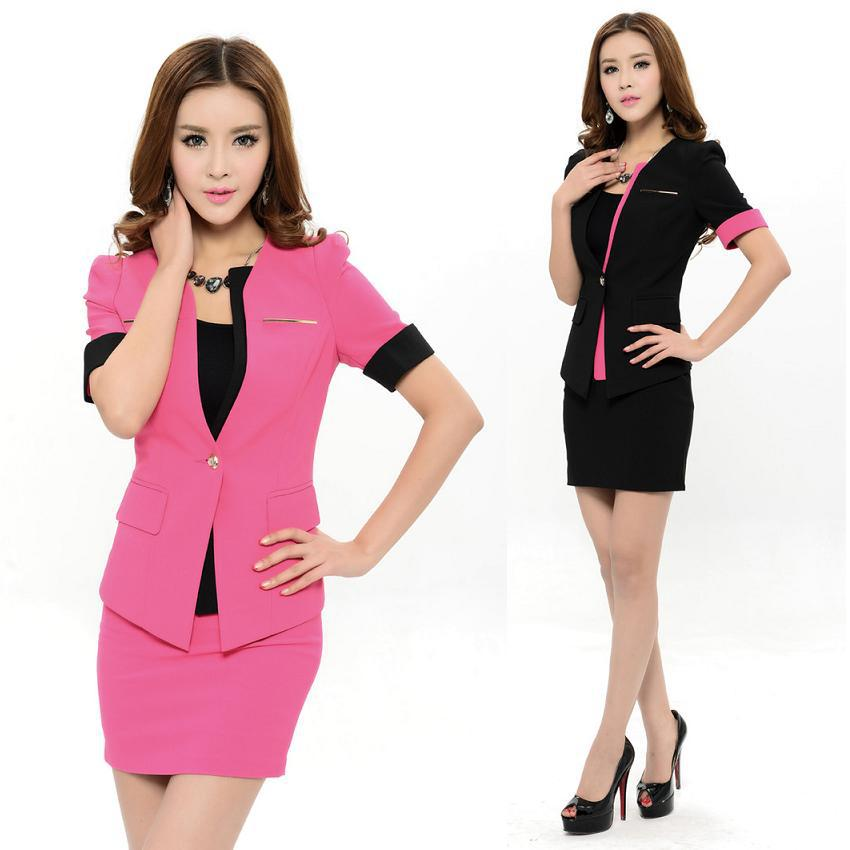 buy womens white suits blazer with skirt and get free shipping on