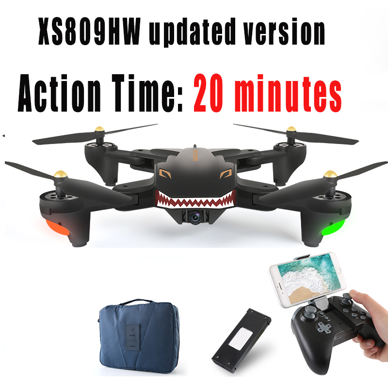 New Arrival SMRC XS809HW RC Drone Quadcopter Professional Remote Control Quadcopter FPV wifi 720P 2.4G 4CH 6 Axis Hovering USB