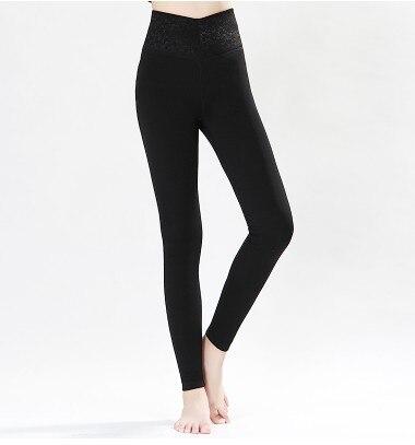 Новый шелк и бархатные толстые теплые нижние брюки для талии и талии талия