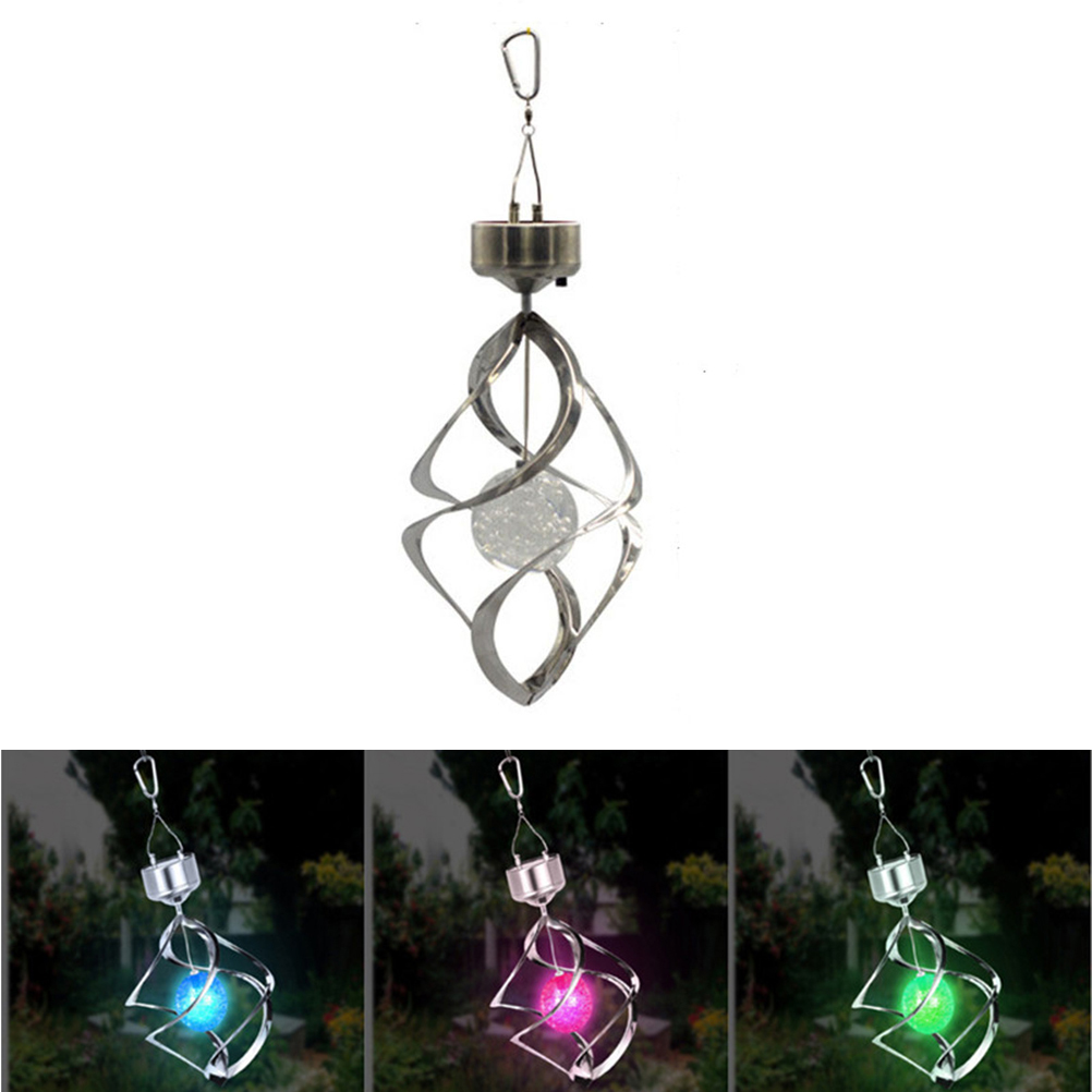 Colorful Solar Power Wind Chime Light LED Light Lamp Lawn