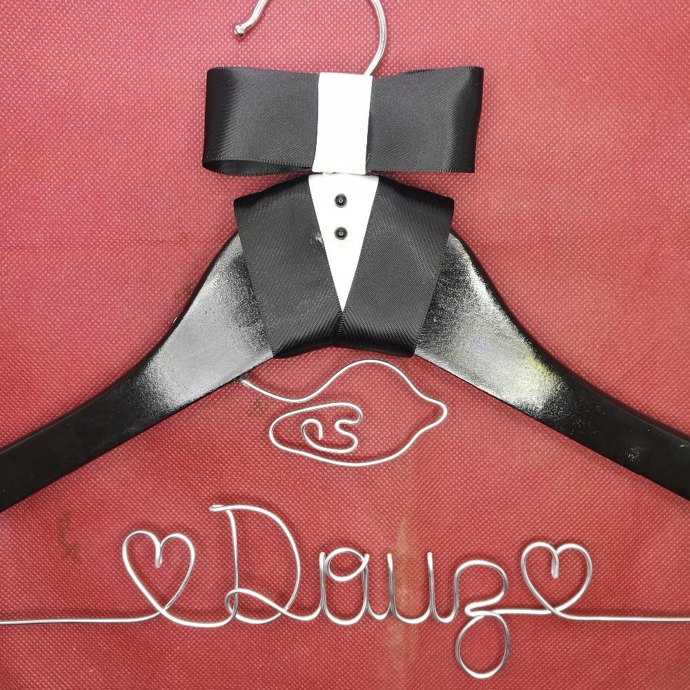 Přizpůsobené svatební závěs, družičky dárky, věšák na jméno, věšák nevěsty Dvojitá ramínka na ramínka
