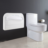 ABS Toilet Paper Holder storage box with Disposable Toilet Seat cover White Bathroom Supplies