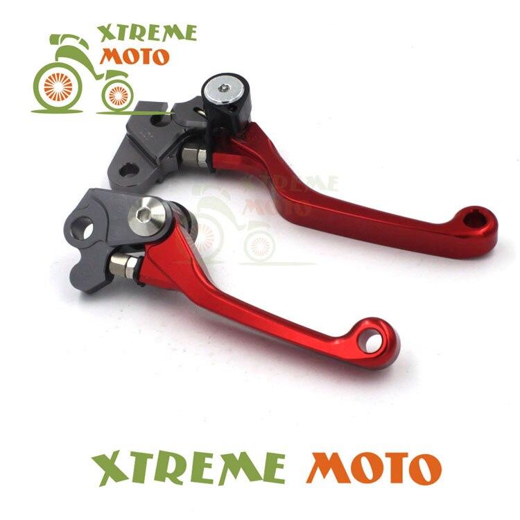 CNC Billet Pivot Foldable Brake Clutch Levers For Honda CR80R CR85R CR125R CR250R CRF150R CRF450R Enduro Motocross Dirt Bike