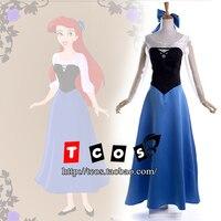 Cosplay The Little Mermaid Ariel Costume Women S Dress Long Skirt Rode Evening Dress Gown