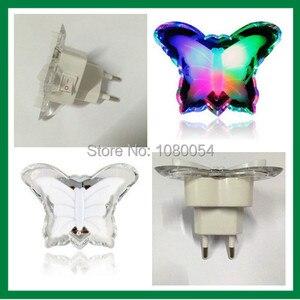 Image 4 - Veilleuse papillon, jolie couleur rvb, ampoule décorative pour chambre de bébé, prise ue, modèle LED