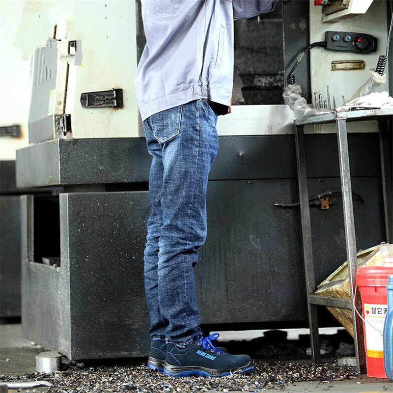 ZYYZYM Mannen Veiligheid Werkschoenen Outdoor Stalen Neus Militaire Laarzen Mannen Punctie Proof Leger Laarzen