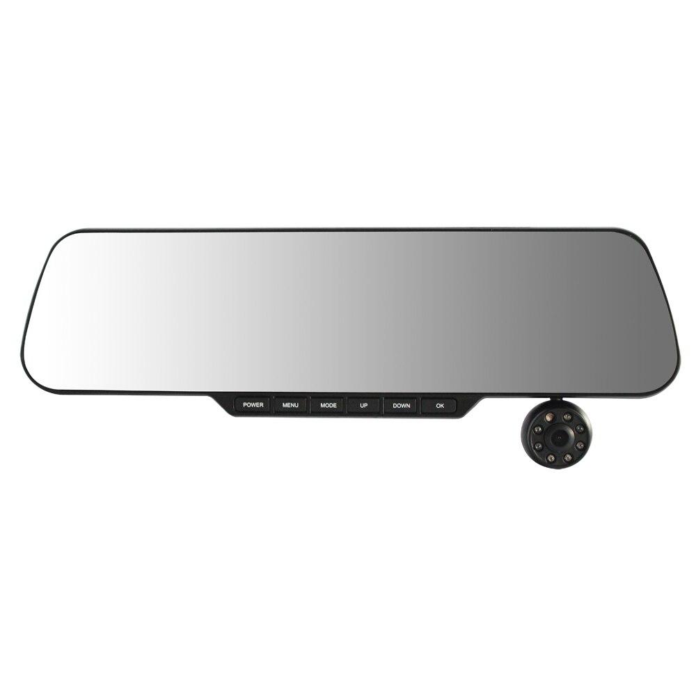 Car DVR Vehicle Camera Video Recorder,Dual channel Full HD Car Black Box built-in rear view mirror(888) dash camera car dvr dual len rear view mirror auto dashcam recorder registrator in car video full hd dash cam vehicle two camera