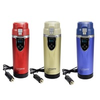 Durable Lettle Portable Electric Travel Heating Cup Coffee Tea Boiling Mug Kettle Auto Accessories car 12V 350ml