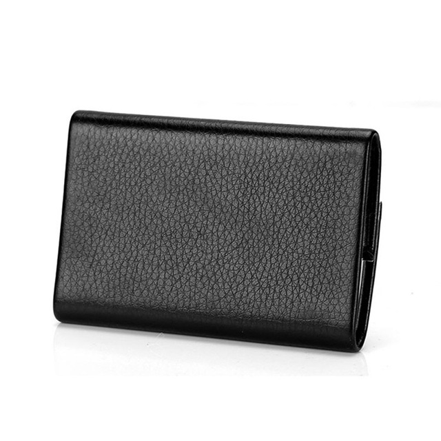 Bisi Goro 2021 New Wallet Men Bussiness Card Name Holder Pu  Leather ID Card Case Bank Card Holder Wallet Package 7 Colors 2