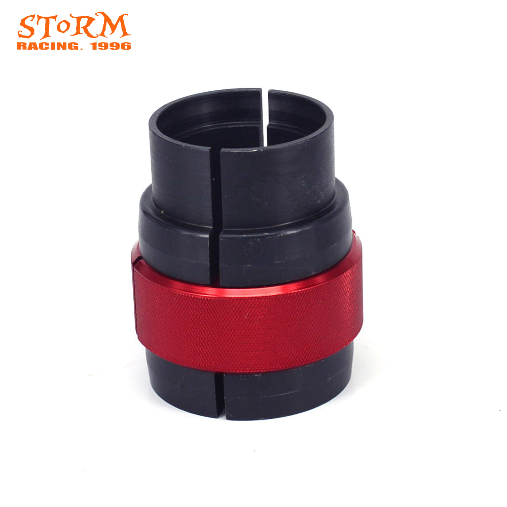 Motorbike 43MM CNC Front Bushing Driver Install Tool Oil Seal Fork Shock Absorption For EXC SX XC YZF WR GSXR RM KLX KDX CBR CR ahl motorcycle front fork damper oil seal for suzuki gsf400 bandit 400 1991 1992 1993 shock absorber oil seal