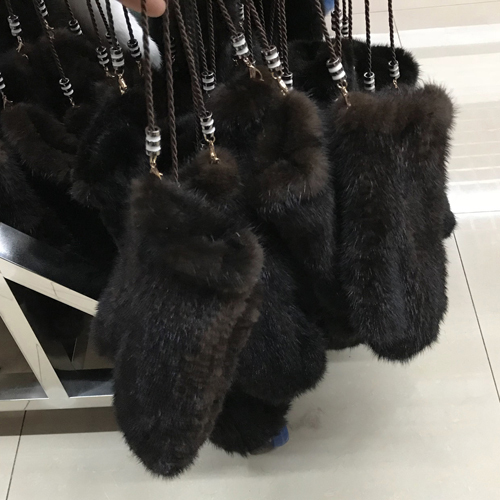 2017 new women real mink fur gloves lovely ladies 100% genuine mink fur gloves warm knitted mink fur mittens wholesale retail