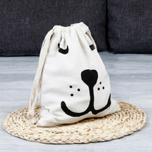 Cartoon Print Waterproof Non-woven Drawstring Bag Travel Wash Pouch Shoe Clothes Storage Bags