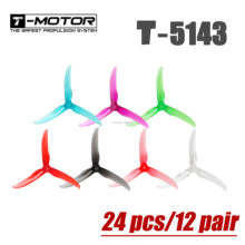 24 pcs/12 pair T-motor T5143 5143 5 inch Propeller 3 blade tri-blade Paddle Violent Lightweight 3.8g Crystal Propeller for FPV(China)