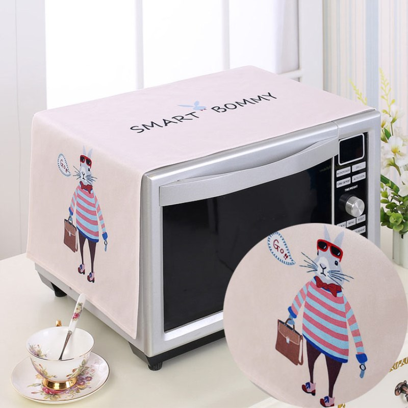 1pcs 35*100cm cute cartoon rabbit flower cloth Dust Cover Microwave Cover Microwave Oven Hood Microwave Cover home decoration