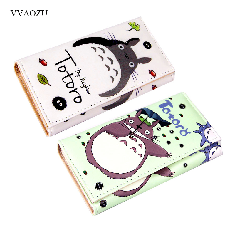 Cartoon My Neighbor Totoro Women Wallets PU Leather Students Wallet Cards Holder Women's Clutch Hasp Coin Purse Money Bags tryptophan 99% l tryptophan 100pieces bottle support relaxation promote result sleep aid support positive mood free shipping