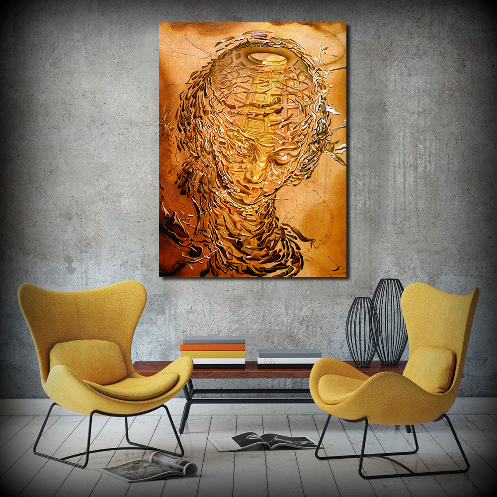 Obra De Arte Surrealista Salvador Dali Jqhyart Surrealista Salvador Dali Obras De Arte Da Lona Moderna Da Parede Pictures For Living Room Home Decor No Frame