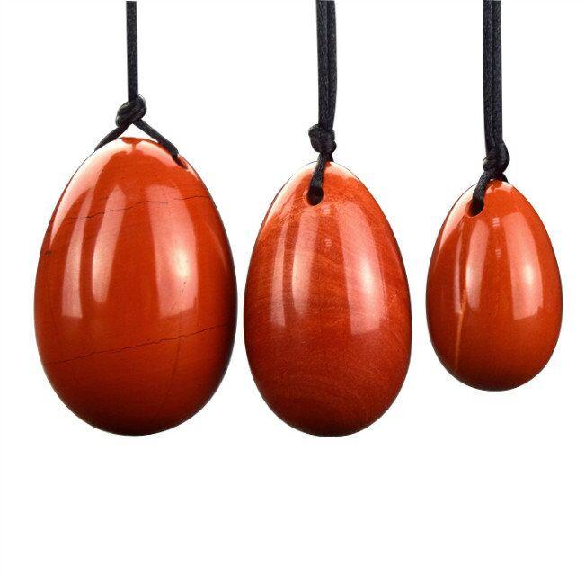 3 pièces/ensemble oeuf de Jade Yoni naturel oeufs de Jade forés pour les femmes exercice de Kegel pelvien resserrement musculaire Vaginal formateur soins du corps
