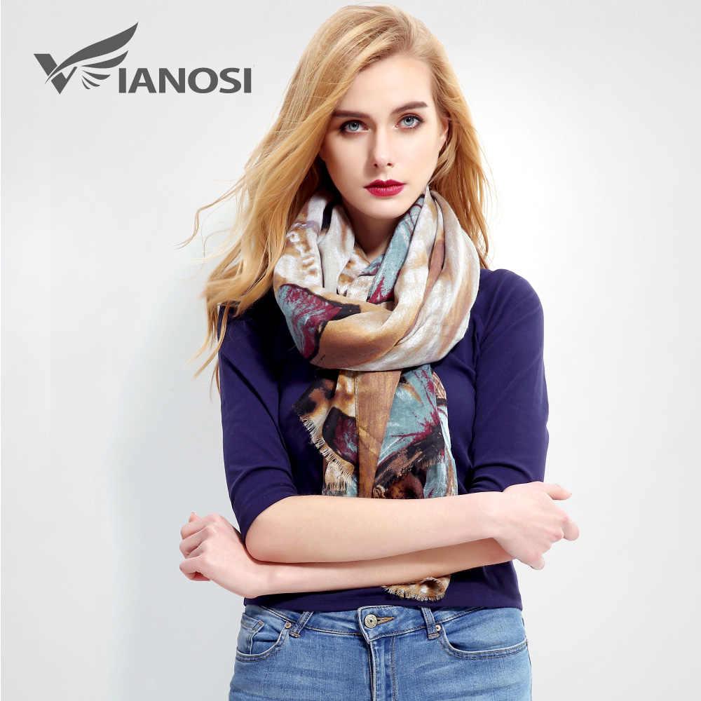 VIANOSI  New Design bandana Women Scarf Luxury Brand Foulard Femme Print  Cotton Winter Scarfs 4de7b9fc181