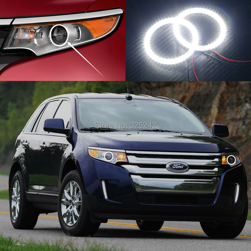 For Ford Edge 2011 2012 2013 2014 Excellent Ultra bright illumination smd led Angel Eyes Halo Ring kit