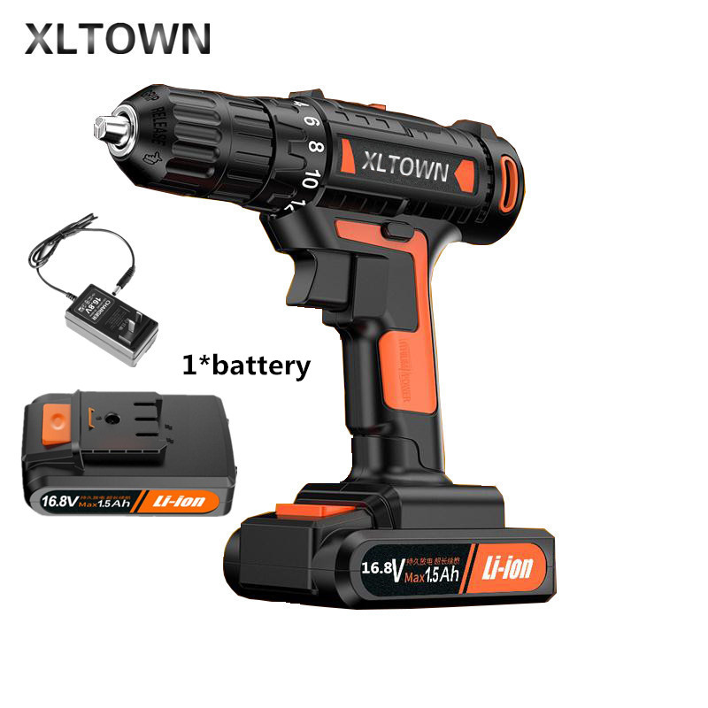 цена на Xltown 16.8v High-end Mini Drill Rechargeable Lithium Battery Electric Screwdriver Large Torque Household Drill home Power Tool