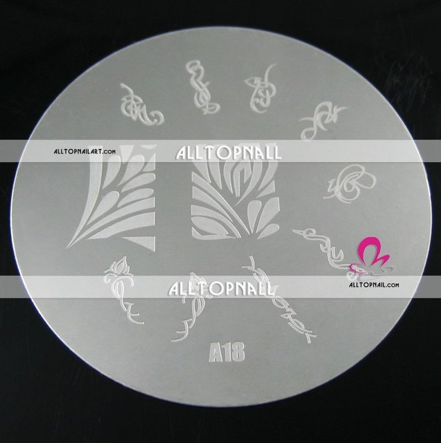 Stainless steel 7CM Stamping Nail Art Image Plates - A series 40pcs/set/lot Free shipping