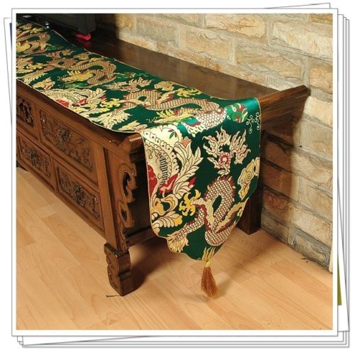 200*33cm New Desgin Chinese Handmade Vintage Green Dragon Silk Table Runner  Bed Flag In Table Runners From Home U0026 Garden On Aliexpress.com | Alibaba  Group