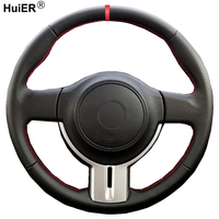Hand Nähen Auto Lenkrad Abdeckung Für Toyota 86 2012-2015 Für Subaru BRZ 2012-2015 Geflecht auf die Lenkung-rad Auto Styling