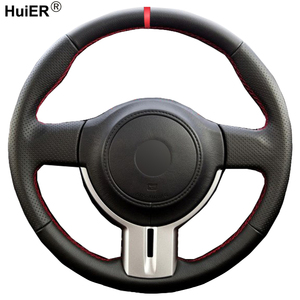 Hand Sewing Car Steering Wheel Cover For Toyota 86 2012 -2015 For Subaru BRZ 2012 - 2015 Braid on the Steering-wheel Car Styling
