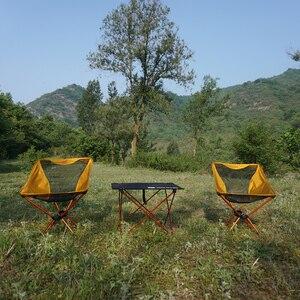 Image 5 - 휴대용 접이식 문 의자 낚시 캠핑 테이블 접는 확장 하이킹 러시아 중국 주식 빛 야외 의자 테이블