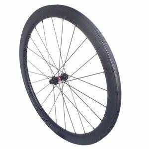 Image 4 - Freio a disco clincher estrada rodas de carbono centro bloqueio 38mm 45mm 50mm 60mm tubular rodado 25mm largura