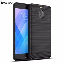 IPAKY Silicone Case For MEIZU Note 6 Case Super Slim Shock Absorption Carbon Fiber TPU Armor Case For MEIZU M6 Note Coque Fundas все цены