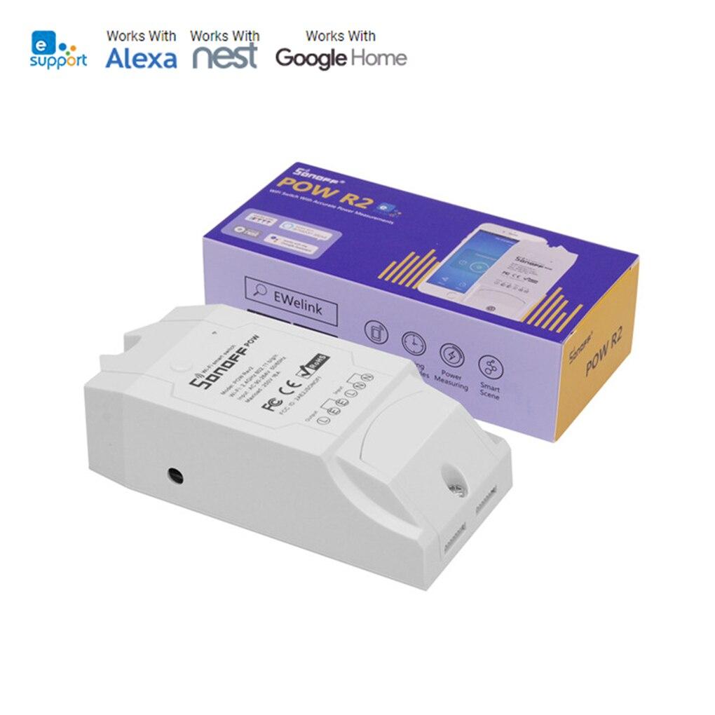 Sonoff Pow R2 Control remoto interruptor de luz WiFi Smart Power Monitor sobrecarga Control de voz calendario temporizador