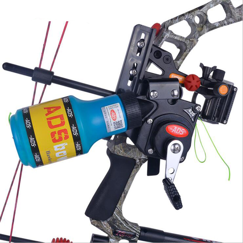 Archery ADS Fishing  Bowfishing Spincast Reel Machine Bottle Rope Quiver Used For Compound Bow Recurve Bow Accessory