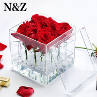 NZ New Listing Jewelry Display For Earrings Necklace Flowers Can Separable Jewelry Boxes As A Valentine