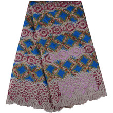 Ankara Guipure Wax Lace Fabric 2018 New Design Printed Embroidered Lace For India Wedding Dress Material African Wax Lace 846