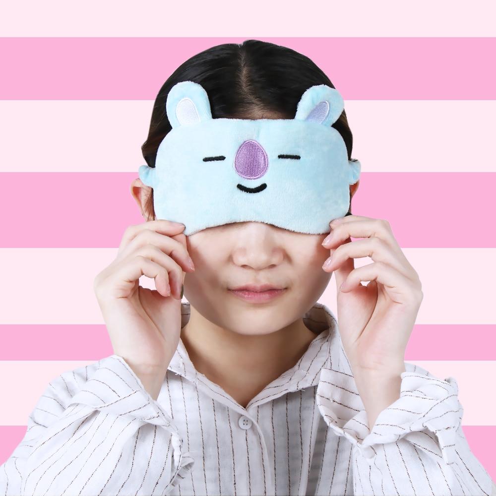 1pc Cute Kpop Bts Bangtan Boys Rest Sleep Mask Bt21 Suga Tata Chimmy