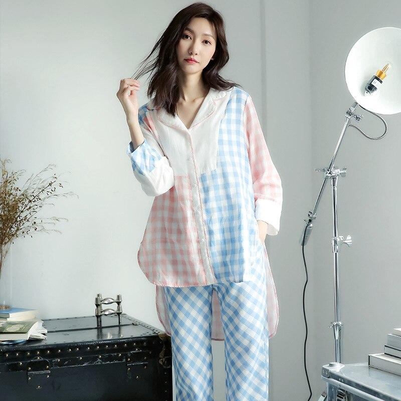 Fashion Casual Sleepwear Women   Pajama     set   Summer Spring   Pajamas   2019