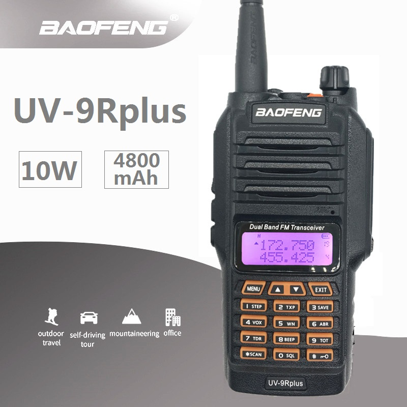 2019 BAOFENG UV 9R PLUS Waterproof Walkie Talkie 10W Marine CB Radio Station HF Transceiver Portable